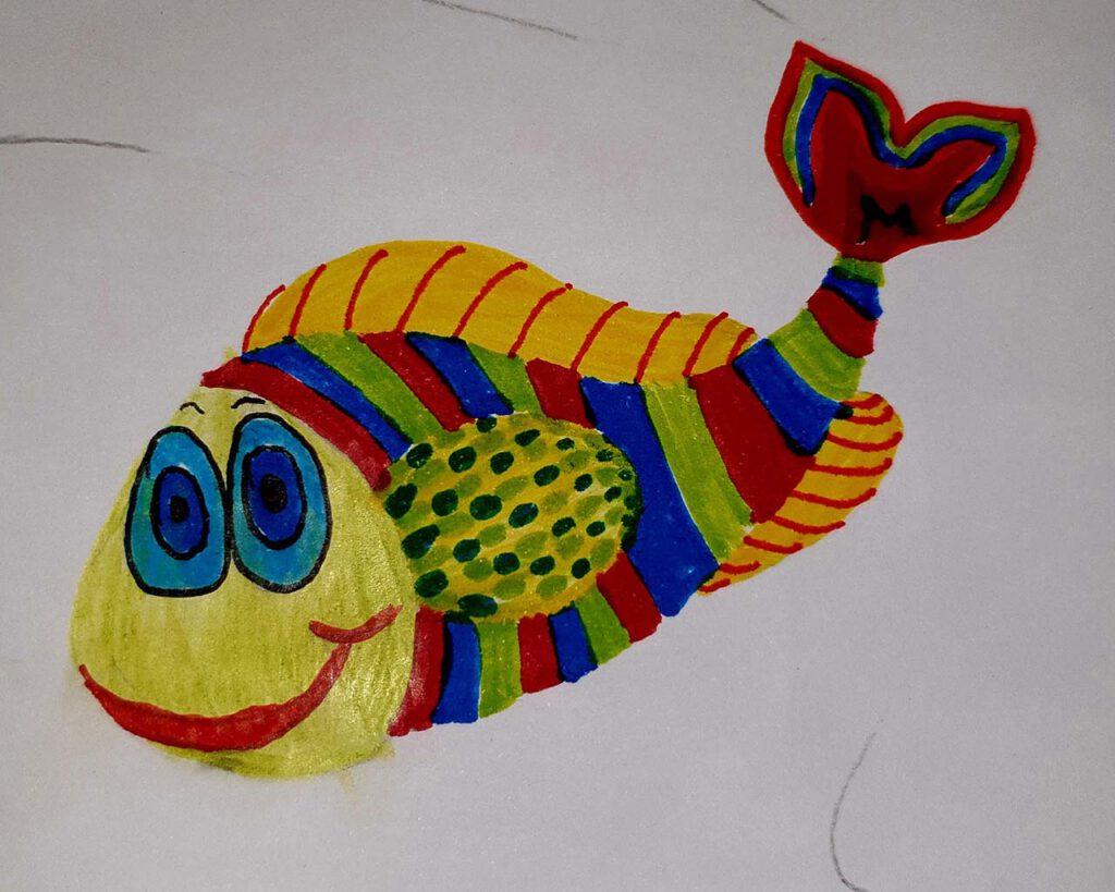 Bunter Fisch